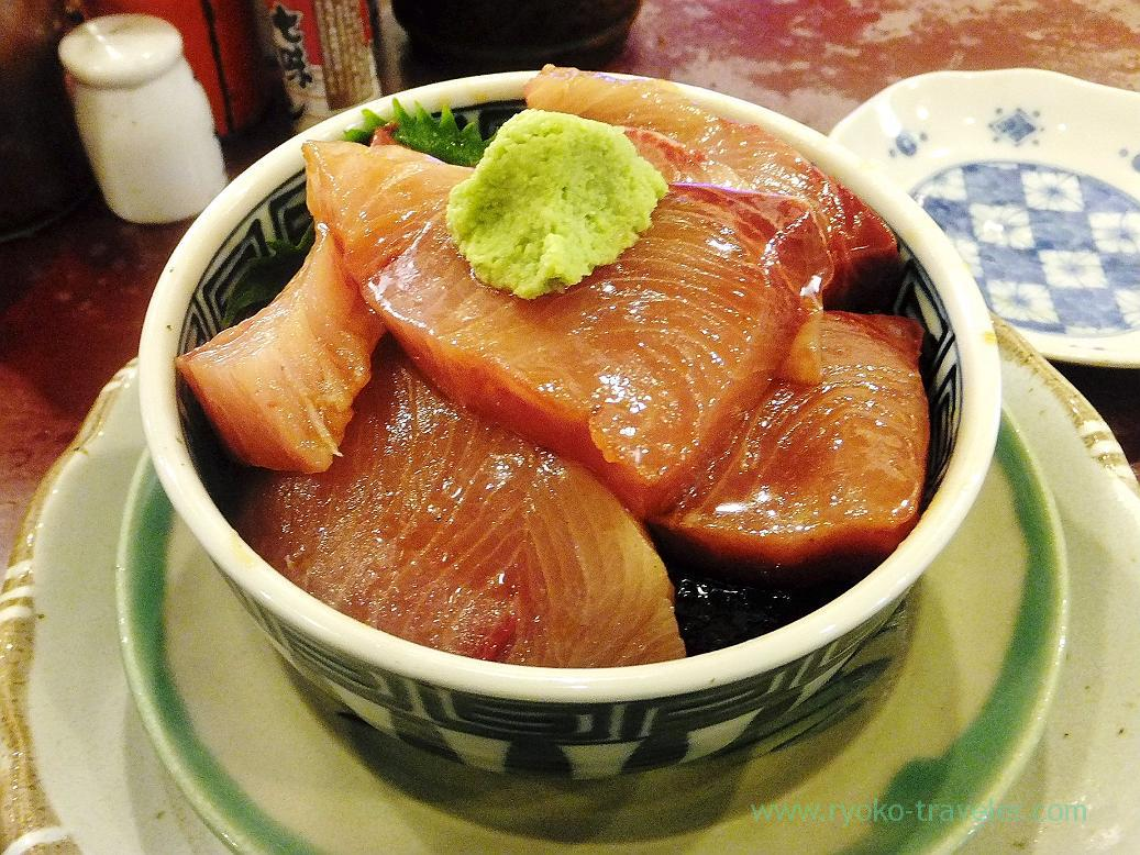 Winter yellowtail bowl, Yonehana(Tsukiji Market)