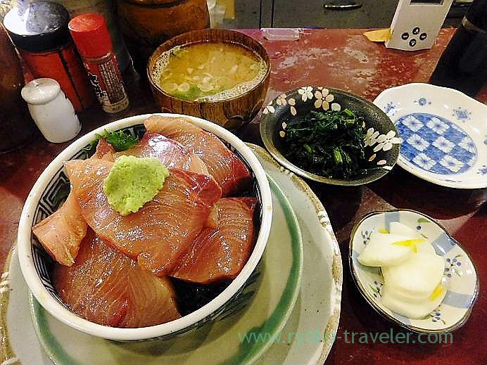 Winter yellowtail bowl set, Yonehana(Tsukiji Market)