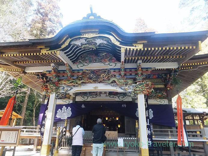 Worship hall, Hodosan Jinja shrine (Nagatoro)