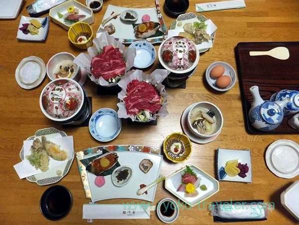 Dinner, Matsukawaya (Nasu Shiobara)