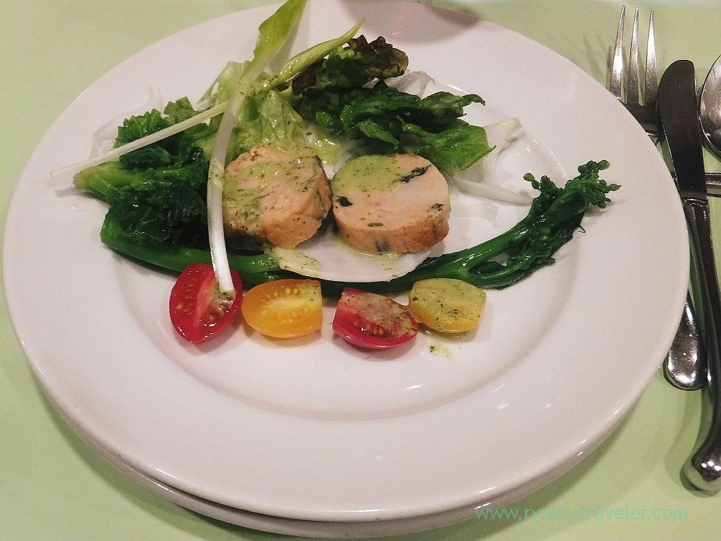 Hinai chicken from Akita and sea eel galantine, Persil (Higashi-Ginza)