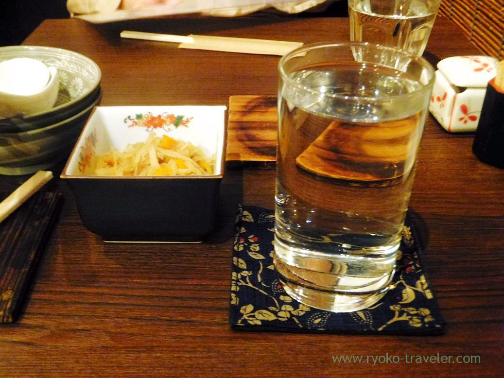 Japanese sake and otoshi, Misonikomin (Hongo-Sanchome)
