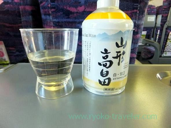 Shinkansen to Nasu Shiobara station with alcoholic drinks