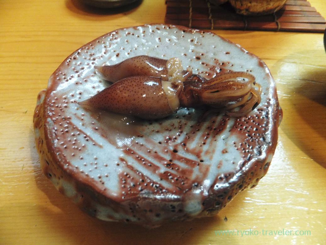 Pickled firefly squid with miso, Miyakozushi (Bakuro-Yokoyama)