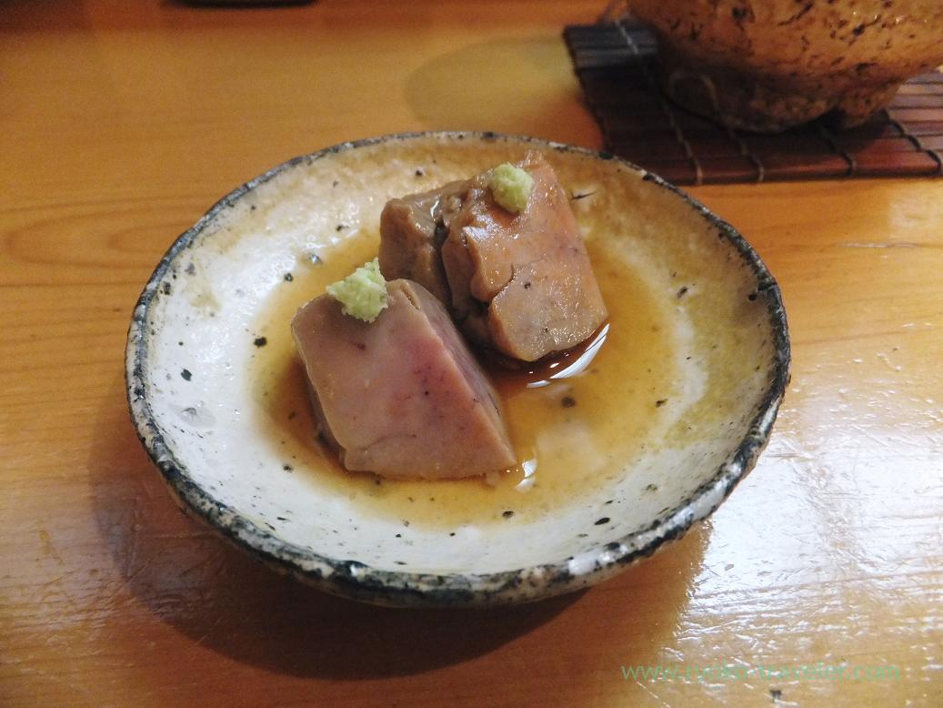 Pickled monkfish liver with miso, Miyakozushi (Bakuro-Yokoyama)