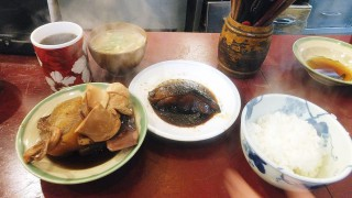 Tsukiji Market : Boiled fish breakfast at Yonehana