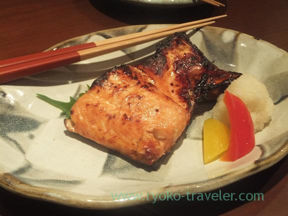 Grilled cherry salmon, Yamadaya
