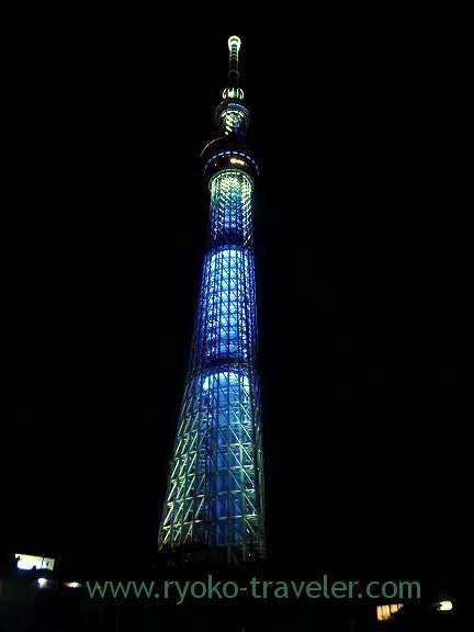 Night view, Tokyo Skytree