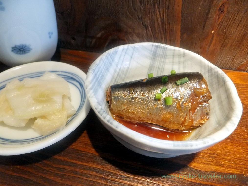 Boiled saury and pickled daikonr radish, Hajime Sengyo-ten (Tsukiji)