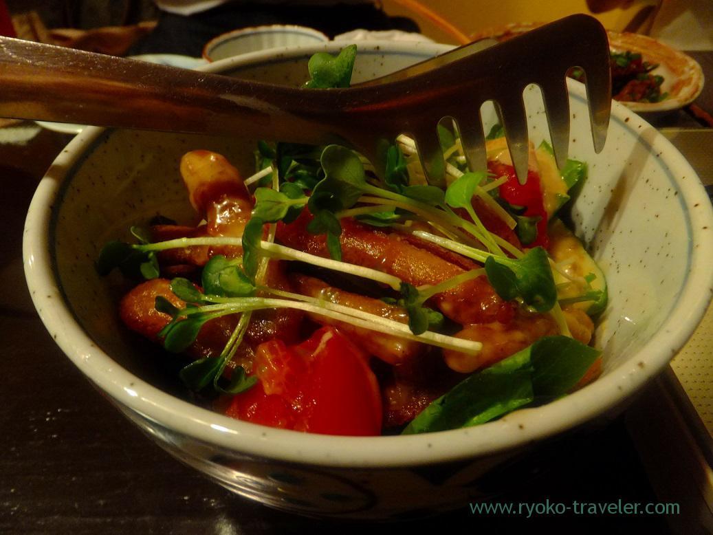 Crunchy burdock salads, Yamasho Ningyocho branch (Ningyocho)