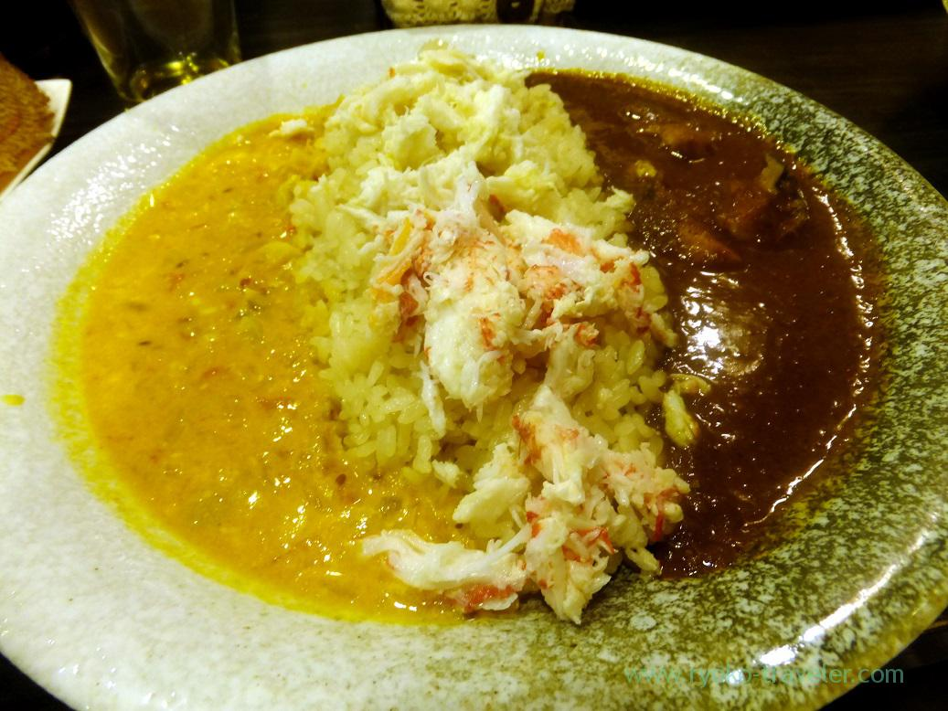 Curry with bristly crab and turban shell, Kareinaru-curry (Tokyo Skytree sta.)