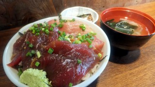 Tsukiji : Marinated tuna bowl at Hajime Sengyo-ten