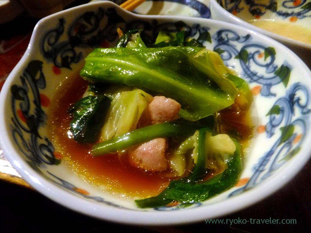 My giblet hotpot soy sauce flavor, Yamasho Ningyocho branch (Ningyocho)