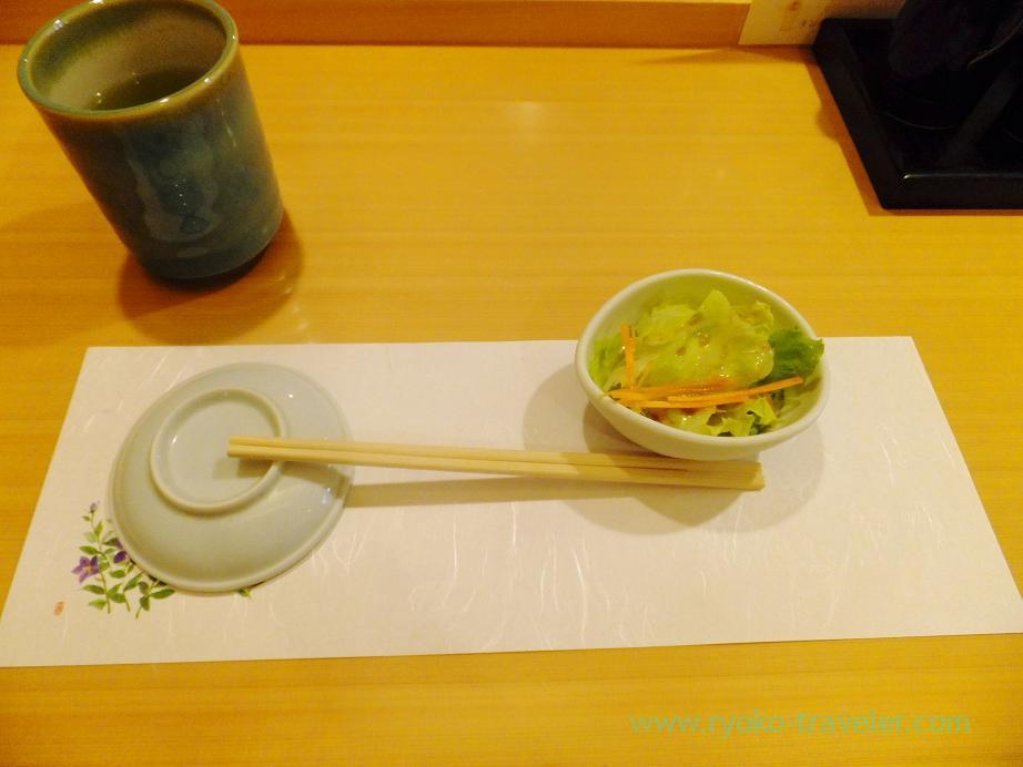 Salad, Sushi Itsuki (Ginza)