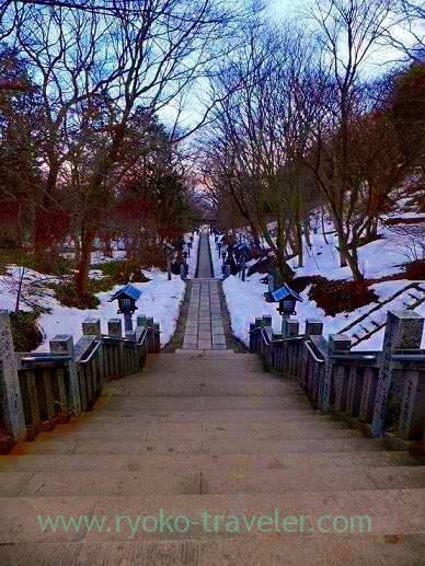 Stairs, Onsen Jinja shrine (Nasu kogen)