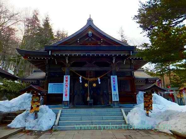 Worship hall, Onsen Jinja shrine (Nasu kogen)