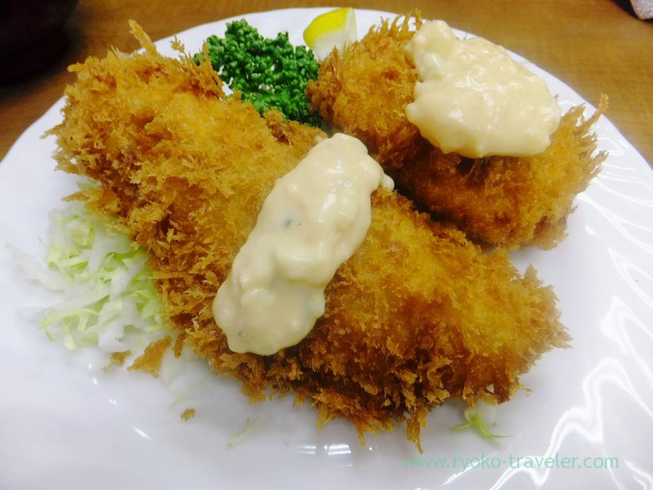 Horse mackerel fry and crab cream croquette, Odayasu (Tsukiji Market)