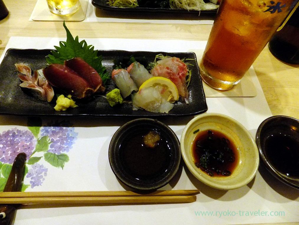 Assorted sashimi, Tsukiji Yoshino Kichiya(Tsukiji Outer Market)