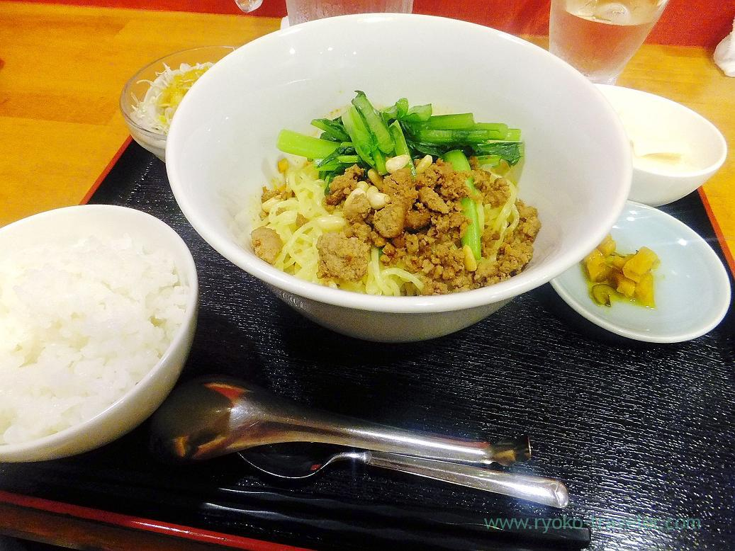Dandan noodles set, Manzan (Makuhari-Hongo)