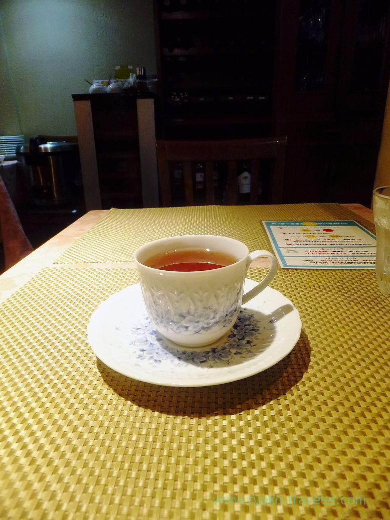 Ginger tea, Dilani`s sri lanka curry (Monzen-nakacho)