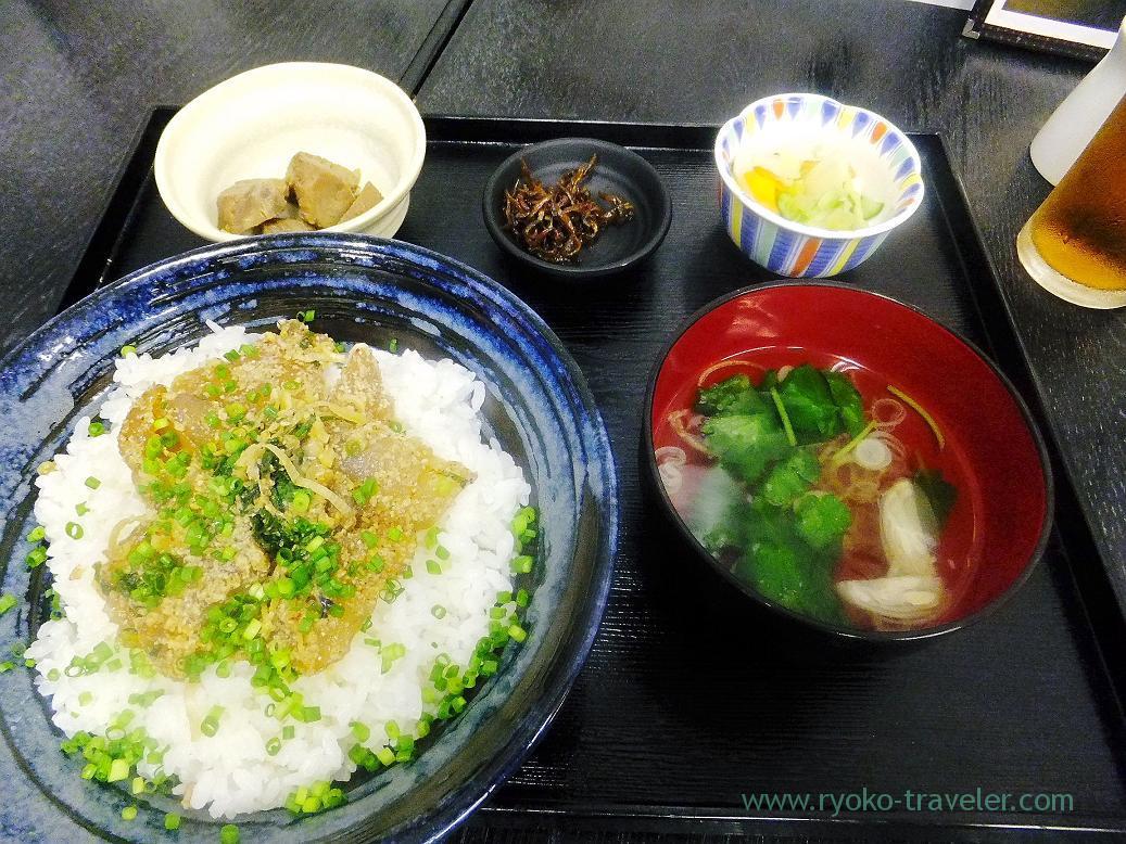 Ryukyu bowl set, Refish Shokudou (Tsukiji)