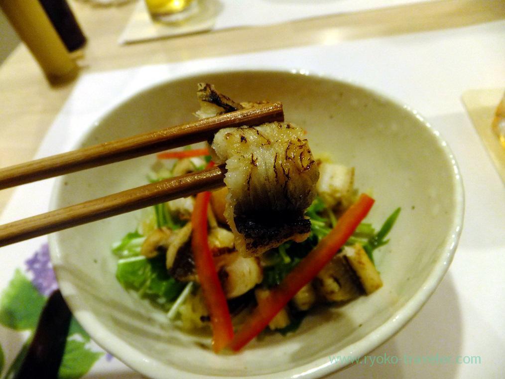 Salads have conger eel, Tsukiji Yoshino Kichiya(Tsukiji Outer Market)