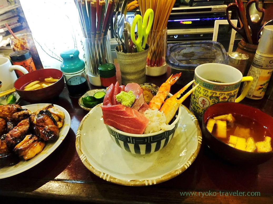 Seafood bowl set, Yonehana (Tsukiji Market)