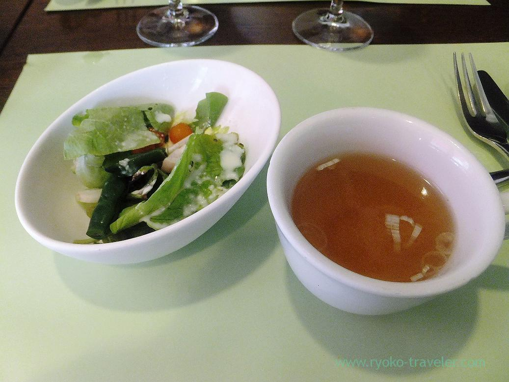 Soup and salad, Persil (Higashi-Ginza)