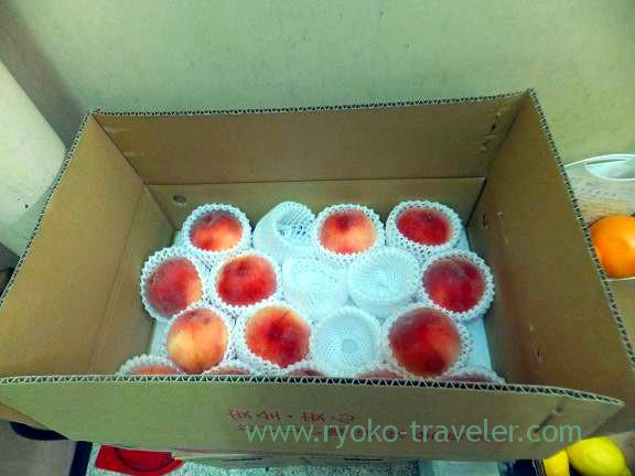 Box of Peach , Fukunaga Fruits Parlor (Yotsuya-sanchome)