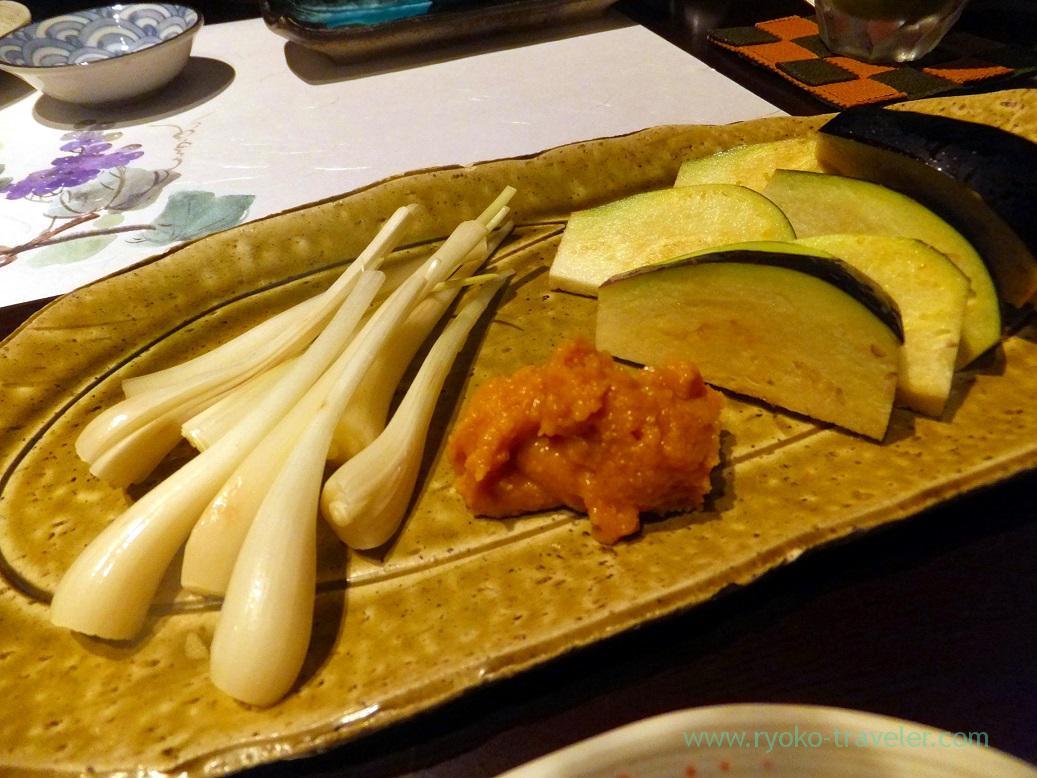Eggplant and shallot, Fujimura (Tsukiji)