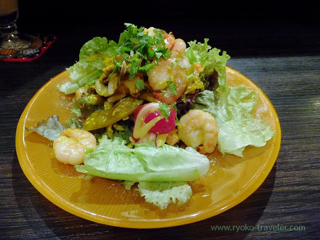 Green chili and shrimp salads, Spice bar NICO (Kiyosumi-shirakawa)