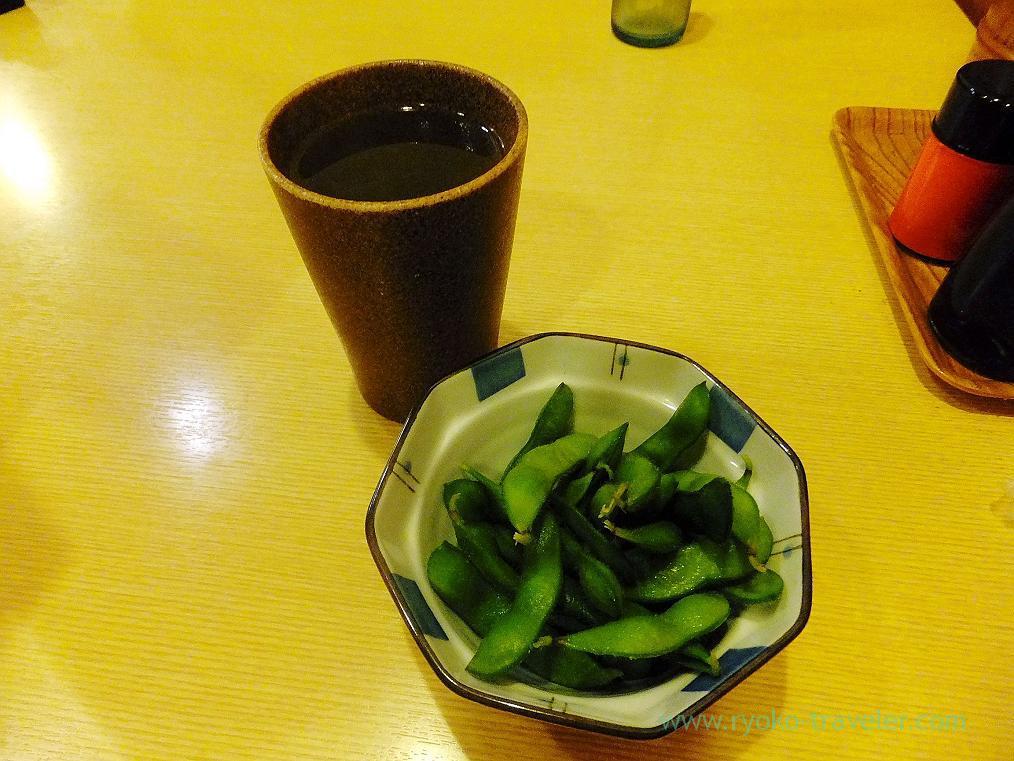 Japanese sake and edamame, Toriharu Shimousa-Nakayama branch (Shimousa-nakayama)