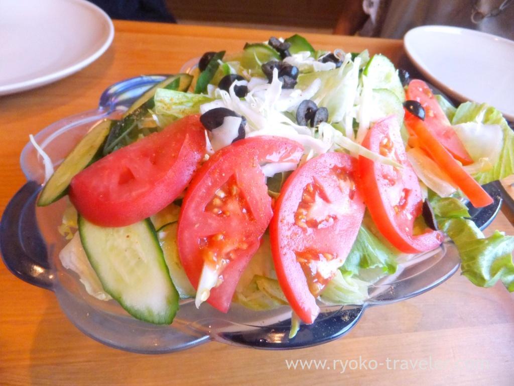 Salads, Handi restaurant (Atago)