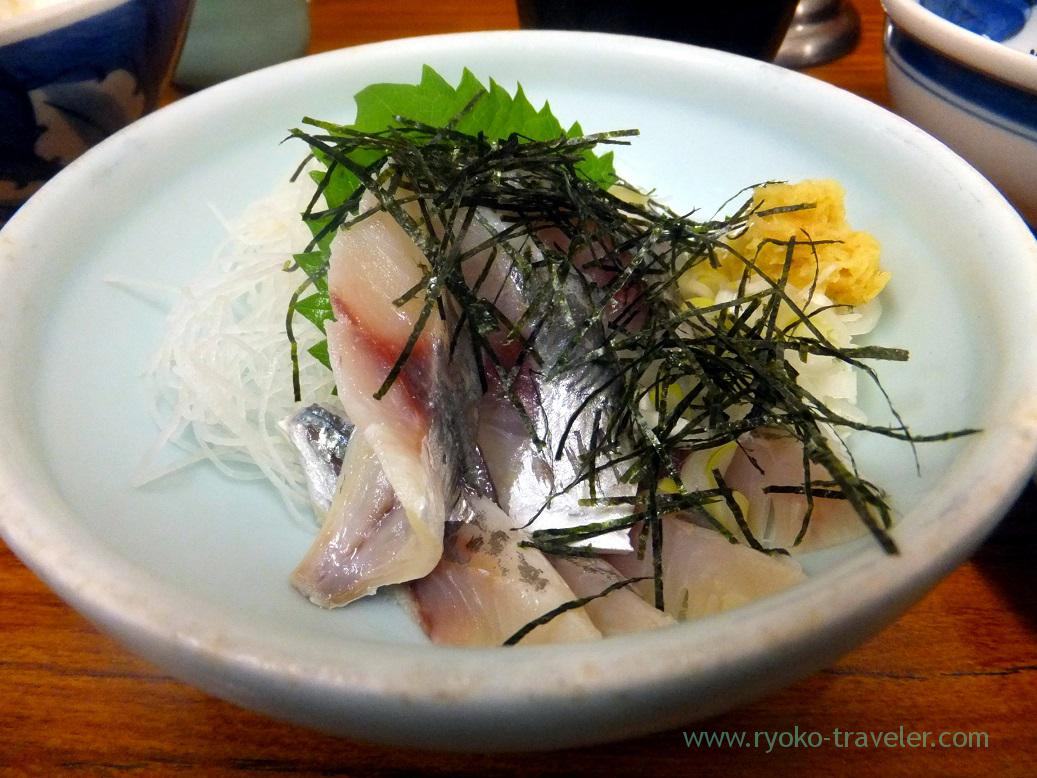 Vinegared horse mackerel, Yachiyo (Tsukiji Market)