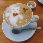 Katsutadai : Cute latte art !