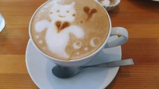 Katsutadai : Cute latte art !