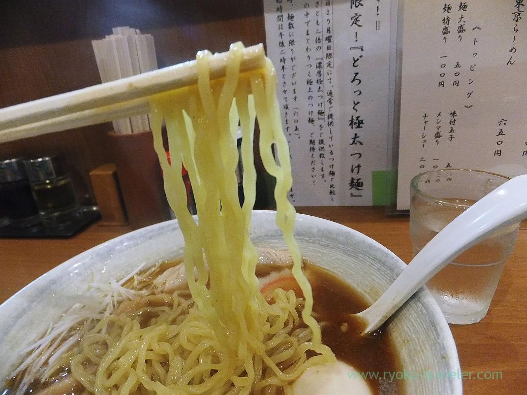 Noodles of niboshi ramen, Eisho Ramen (Tsudanuma)