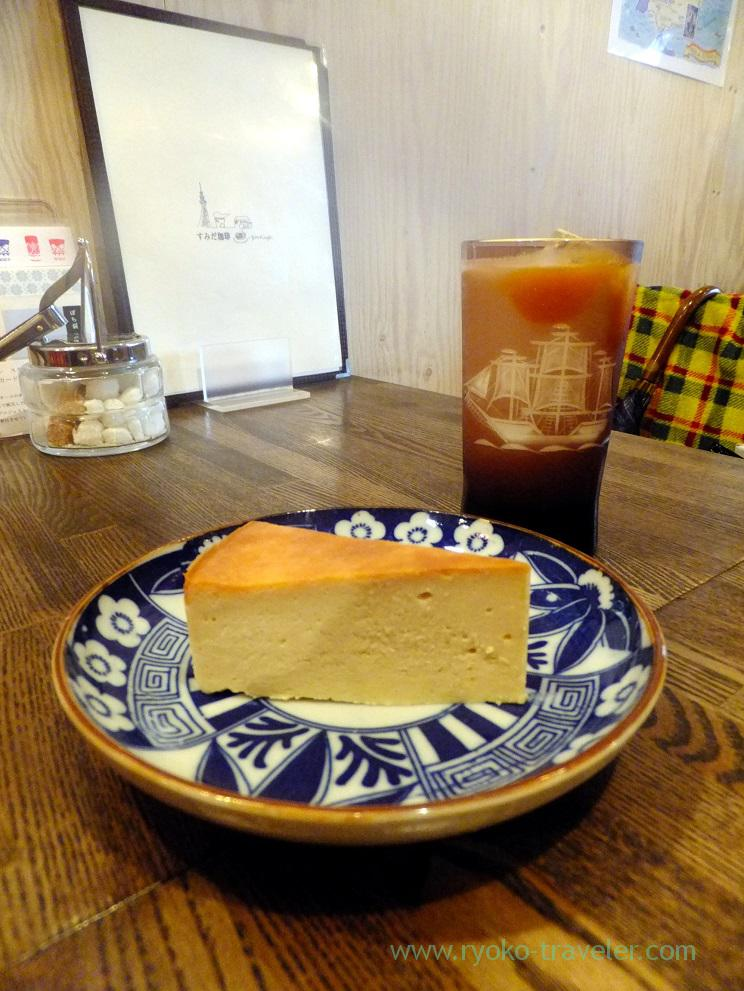 Standard cheese cake, Sumida coffee (Kinshicho)