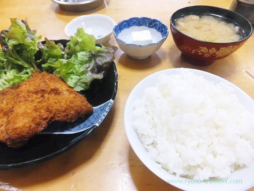 Horse mackerel fry set, Sake-dokoro Nakamura (Kachidoki)