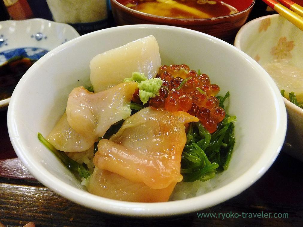 My sashimi bowl, Yonehana (Tsukiji Market)