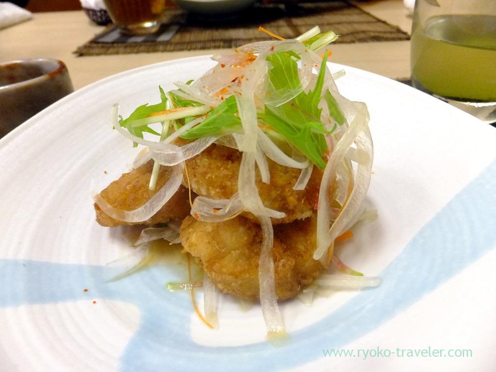 globe fish karaage, Kazumiya (Yushima)