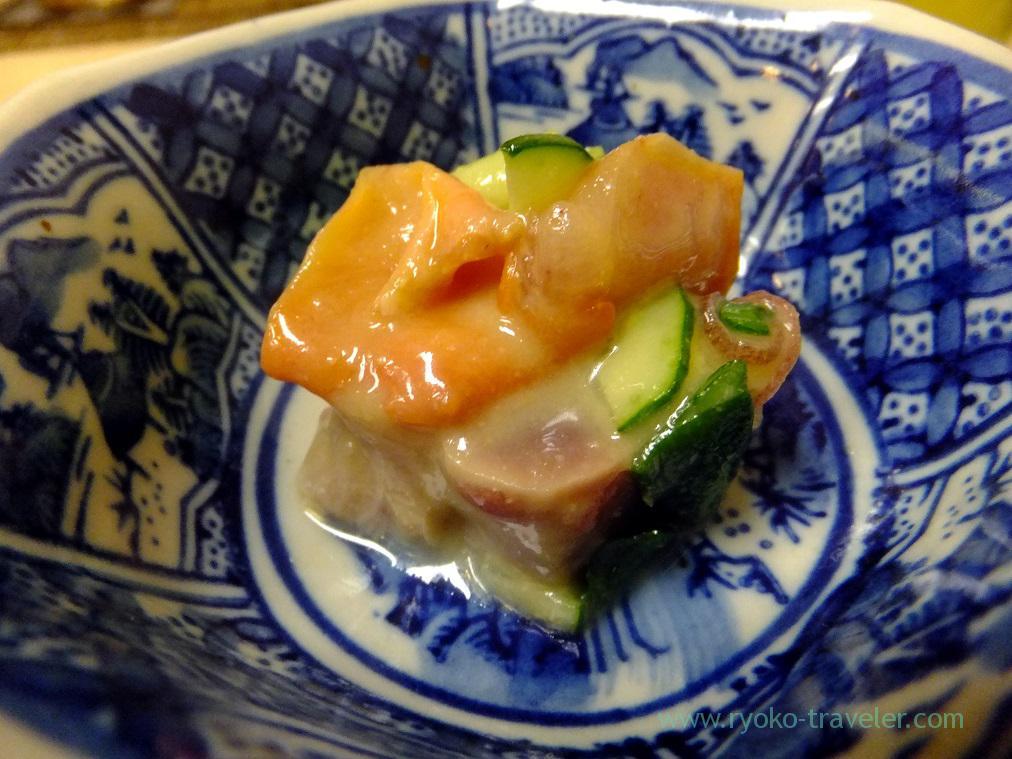 round clam and tuna nuta, Kazumiya (Yushima)