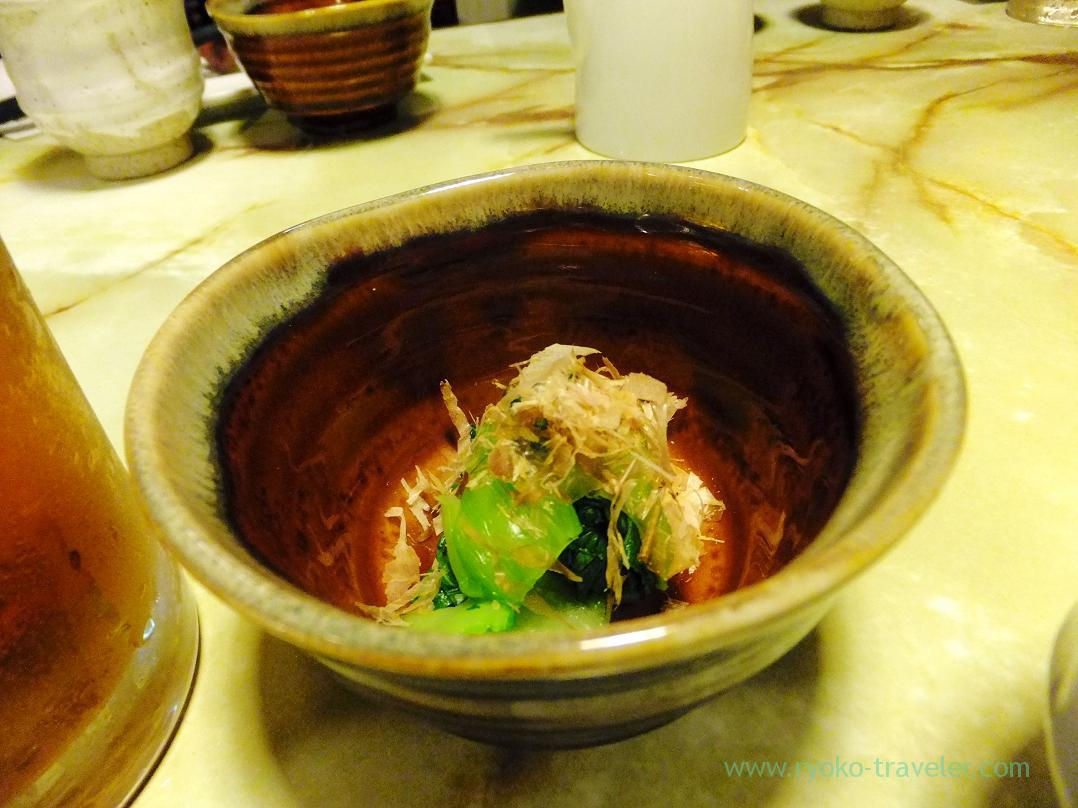 Boiled chinese cabbage eaten with soy sauce, Kashigashira (Tsukiji)
