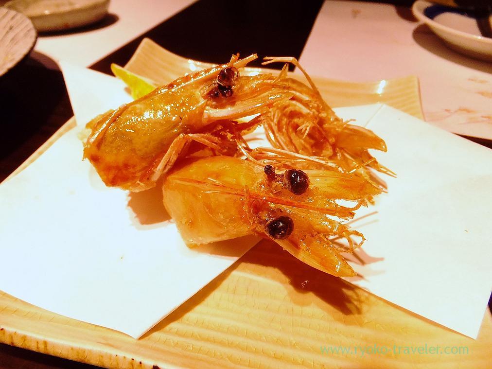 Deep fried Angel Prawn, Fujimura (Tsukiji)