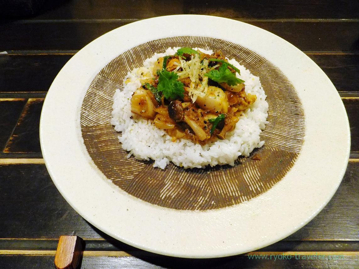 Full view of scallop curry, Curry-no-Akimbo (Kinshicho)