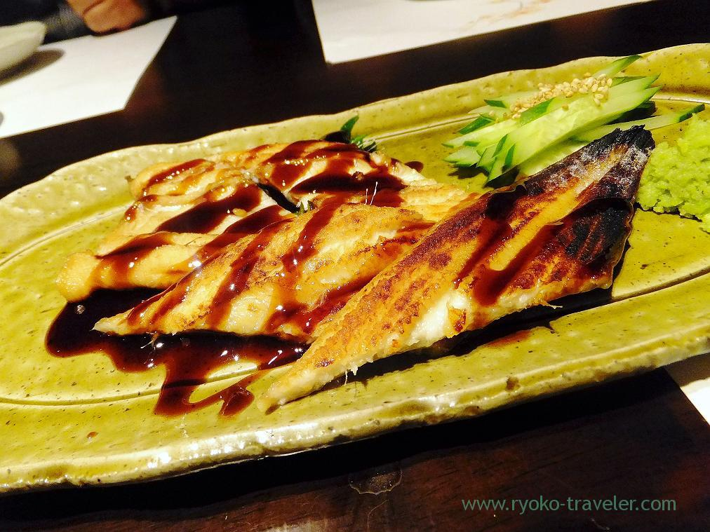 Grilled conger eel Sushi restaurant style, Fujimura (Tsukiji)