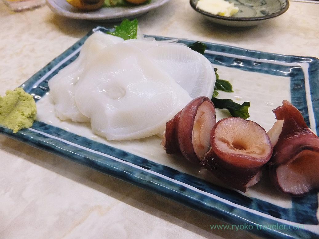 Raw octopus, Ippei (Funabashi)