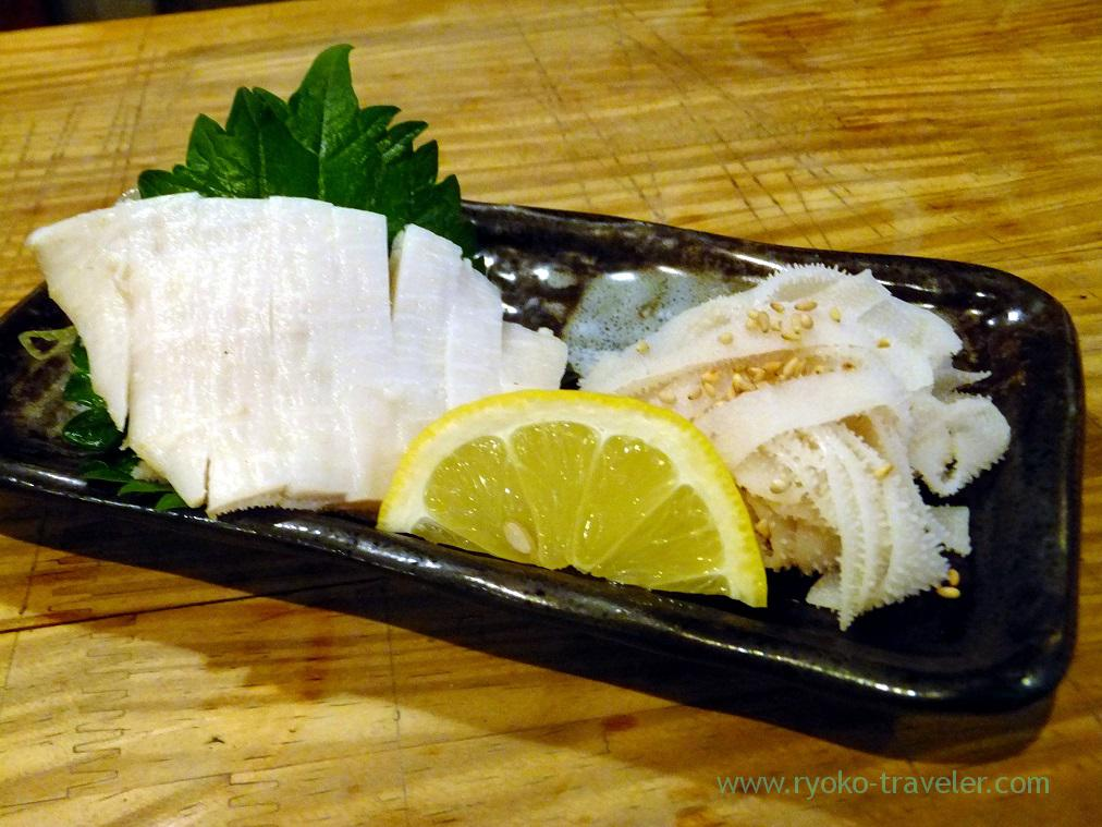 Raw omasum or the third stomach, Kameido-Horumon (Kameido)
