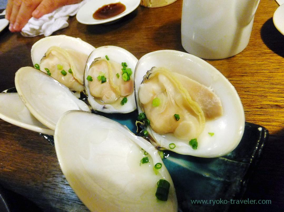 Steamed clam with Japanese sake, Kashigashira (Tsukiji)