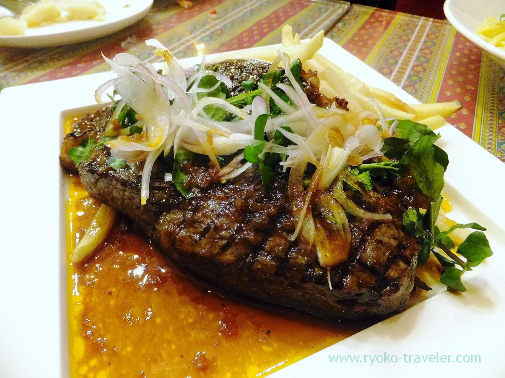 Beef loin rib steak with sherry and vinegar sauce, Ore-no-Italian YAESU (Yaesu)